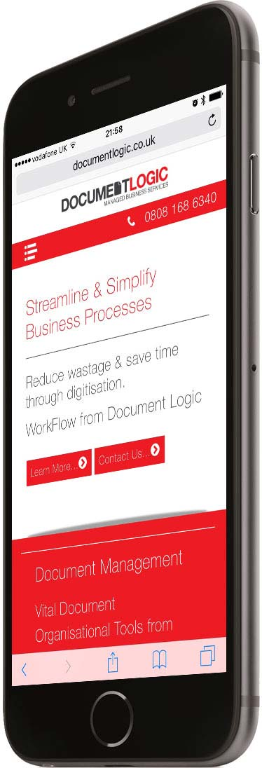 Portfolio Responsive Phone Left Business Document Logic