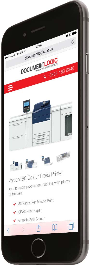 Portfolio Responsive Phone Left Printer Document Logic