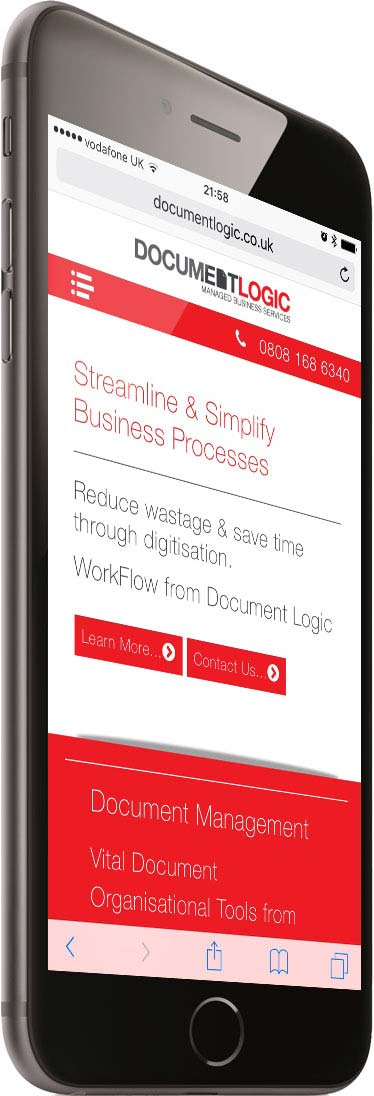 Portfolio Responsive Phone Right Business Document Logic