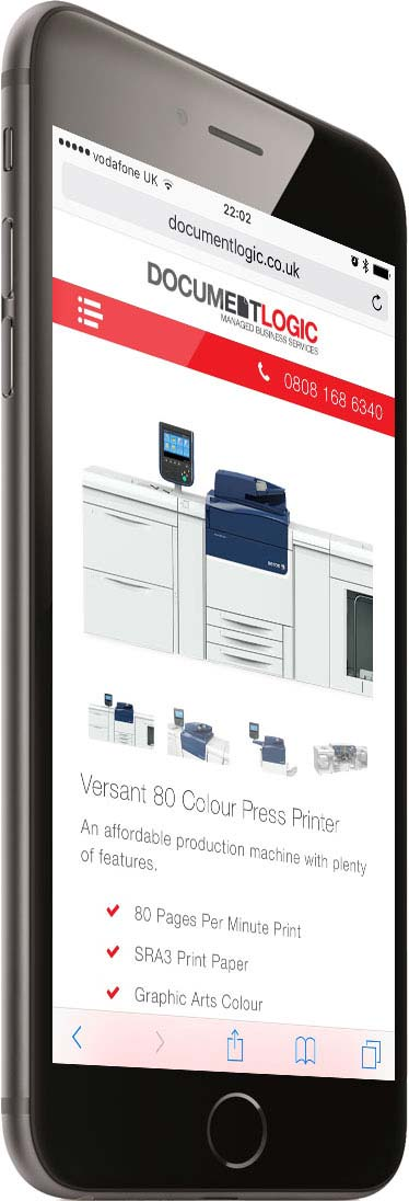 Portfolio Responsive Phone Right Printer Document Logic